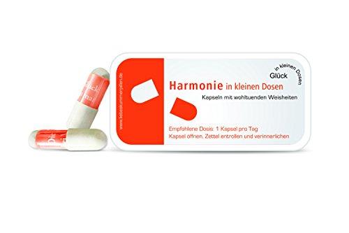 Unbekannt Harmonie in kleinen Dosen Pillen mit Sprüchen
