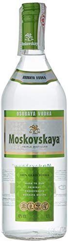 Moskovskaya Vodka - Botella Vodka Ruso de 1L.