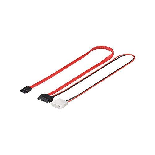 Wentronic HDD 2 in 1 S-ATA SlimLine Kabel 0,3 m, Rot/Schwarz