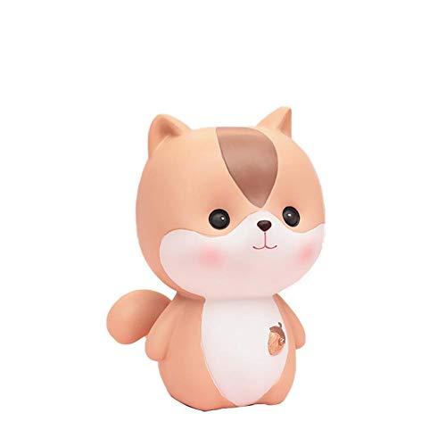 Vommpe Spardose Eichhörnchen Sparschwein Dekoration digital Piggy Bank Kinder Freunde 13cm,Harz