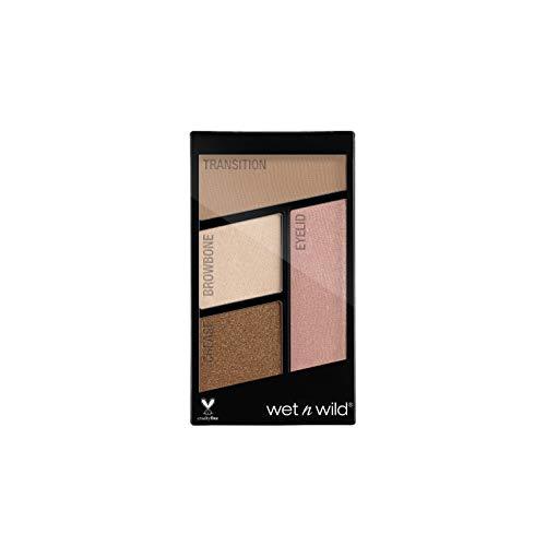 Wet n Wild Color Icon Eyeshadow Quads (Walking on Eggshells)– Paleta de Sombras de ojos - 4 colores mate y brillo