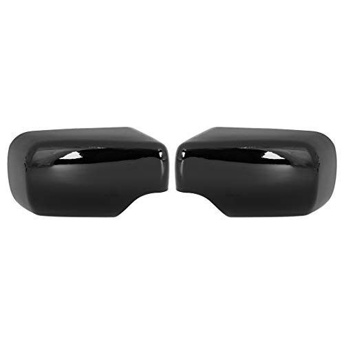 X AUTOHAUX 2pcs Rearview Mirror Cover for BMW 3 Series E46 318i 320i 325i Car Mirror Covering Cap Exterior Parts Replacement Modification Glossy Black