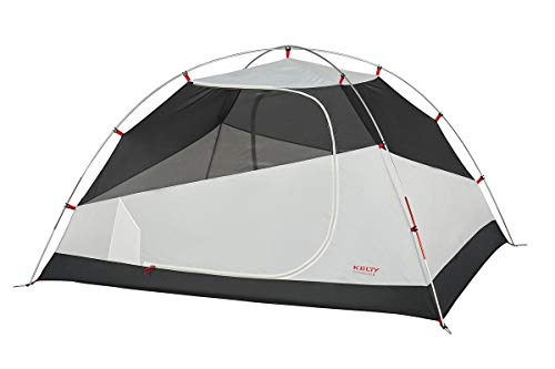 Kelty Gunnison 3 Person Backpacking and Camping Tent with Footprint, Grey