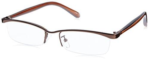 藤田光学 老眼鏡 2.5 度数 オパート ナイロール メタルフレーム ブラウン OS-33+2.50