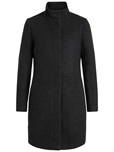 Vila Clothes Vialanis Coat-Noos Abrigo, Negro (Black Black), 40 (Talla del fabricante:...