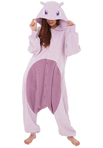 Mewtwo Pokemon Kigurumi Onesie (Adult One Size Fits All) Purple