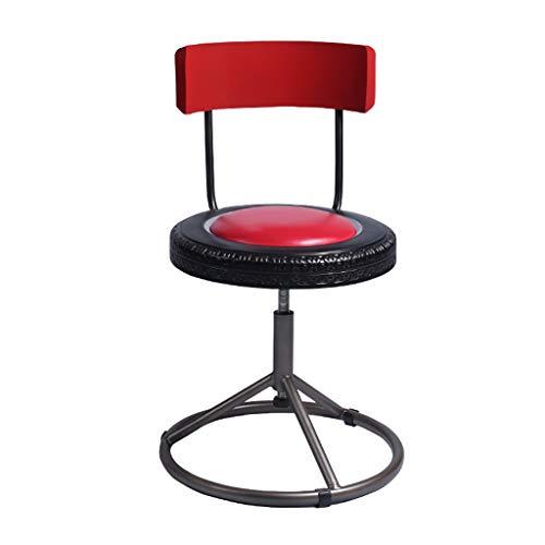 NSSDSD HOHER Stuhl American Retro Barstuhl Iron Art Barhocker Hoher Hocker Kreativer Stuhl Home (Color : B)