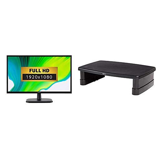 Acer EK220QAbif 21.5 inch FHD Monitor (VA Panel, 75Hz, 5ms, HDMI, VGA, Black) & AmazonBasics Adjustable Monitor Stand
