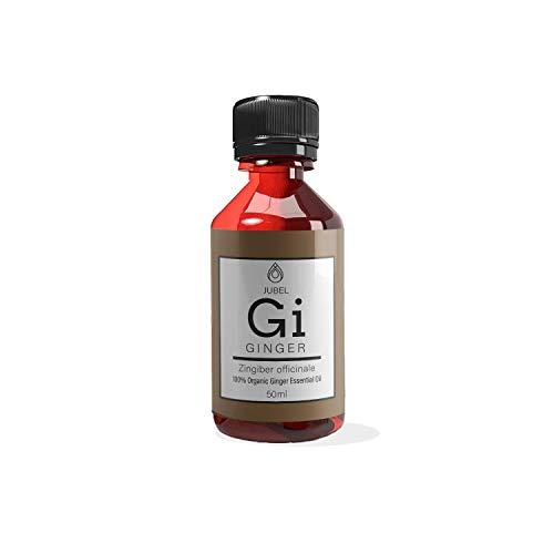 Huile essentielle de gingembre par JUBEL I Huile de massage 50 ml I Remède naturel contre les...
