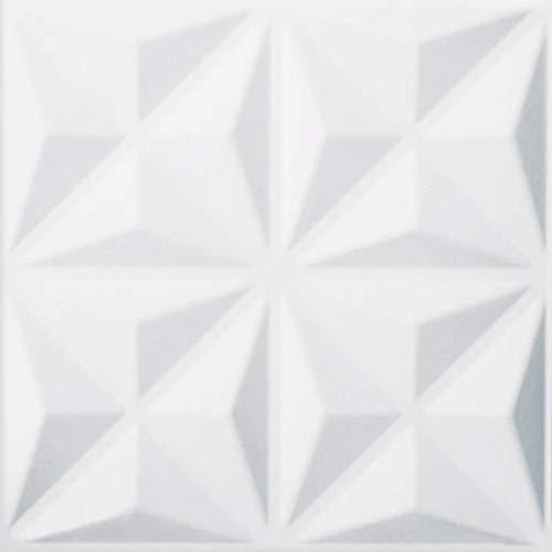 WallArt Paneles de Pared 3D Cullinans 12 Piezas GA-WA17 Color Blanco Ecológico