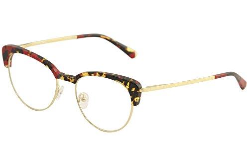 Etnia Barcelona Women's Eyeglasses Brescia RDGD Red/Gold Optical Frame 52mm