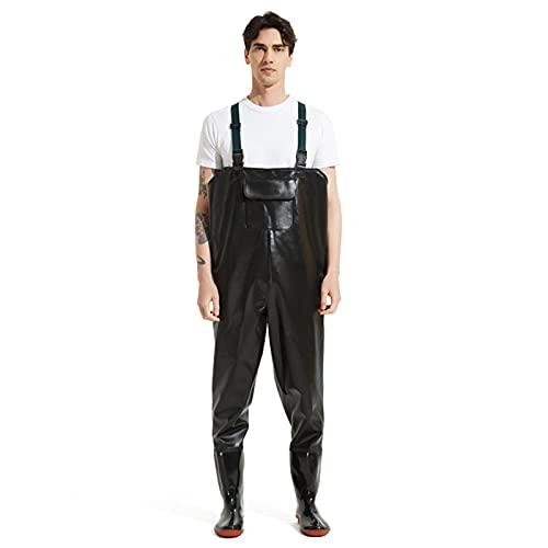 CAMILYIN PVC Vadeadores de Pesca,Ropa de Trabajo,Pantalón Impermeable de Una Pieza,Pantalones de Pesca Impermeable Profesionales Waders,41