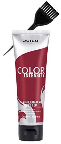 Joico COLOR INTENSITY Semi-Permanent Creme Hair Color (w/Sleek Applicator Tint-Brush) Cream Haircolor Dye (RUBY RED)