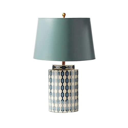 SPNEC Lámpara de Mesa de cerámica Pastoral Americana Nuevo Dormitorio Chino Lámpara de Cama de Noche Habitación Lámpara de Estudio de Sala de Estar clásica