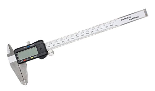 Large LCD Screen Electronic Digital Caliper 0-8 Inches/0-200 mm Measuring Range Inch/Metric/Fraction Conversion Measuring Tool for DIY and Professional