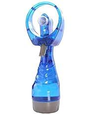 Misting Fan Handheld Misting Fann Battery Operated Fan Water Spray Fan Mini Portable Desk Fan Personal Cooling Fan for Outdoor Fine Mist Sprayer Light Blue