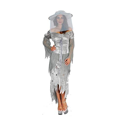 Ciao- Costume Adulto Lady Ghost tg. S Donna, Grigio, S, 16166.S