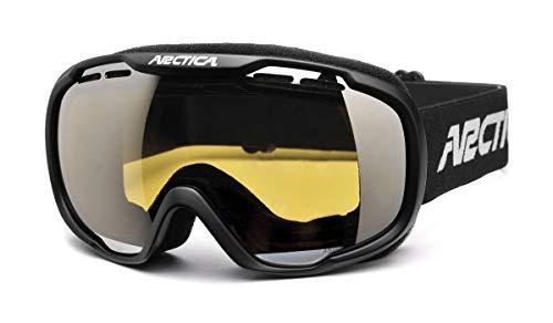 Arctica  G-112A - Gafas de esquí con sistema de doble lente y recubrimiento antivaho (lente amarilla, cat. 1)