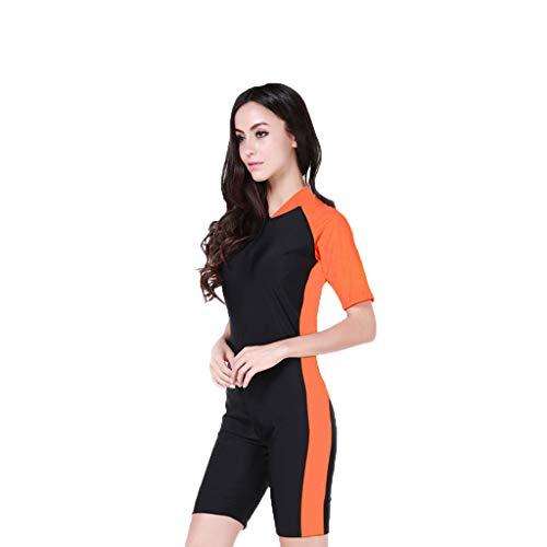 iYmitz Damen fashion short sleeve orange xl