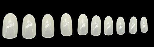 Nagelspitzen,Deesos 600pcs Falsche Französische Nagel Kunst Spitze Salon Falsche Nagelspitzen Kurz(Natürlich Farbe)