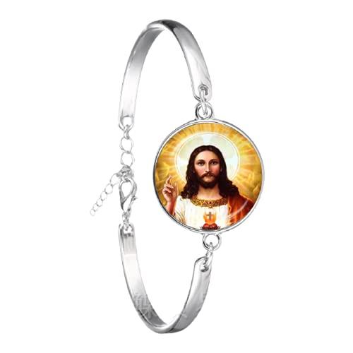 Nuevo estilo bendecido Virgen María Madre del Bebé Pulsera Jesús cristiano católico religioso Jesús brazalete para regalo