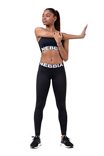 Nebbia, Squad Hero Scrunch Butt leggings, scrunch butt and shaping effect, maximum movement, firmer flexible eco or softer elastic material, color Black, size M