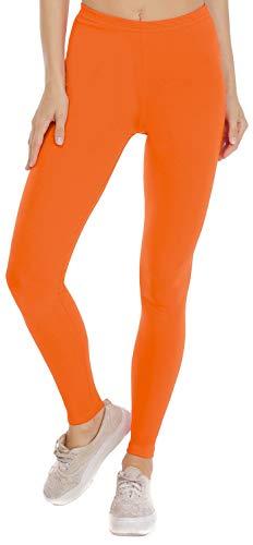 BeLady Damen Leggings Knöchellang Blickdichte Leggins Viele Farben Viele Größen (Orange, XL -42)