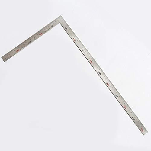 Swiftswan Quadratisches Plan-Werkzeug des rostfreien Stahl-90 Grad-L-förmiges doppeltes seitliches Maßlineal für Dachsparren-Tür-Treppen-Layouts