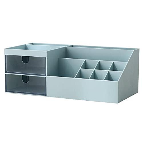 TOMOP Organizador de escritorio de oficina para lápices, organizador de escritorio, caja de almacenamiento de escritorio para oficina, escuela, hogar, maquillaje, lápiz de almacenamiento