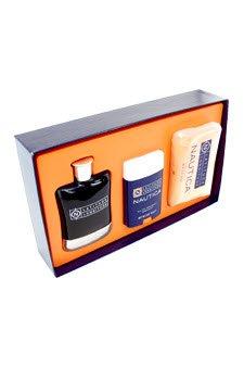 Latitude Longitude by Nautica Gift Set - 3.4 oz Eau De Toilette Spray + 10 oz Soap + 2 oz Deodorant Stick for Men