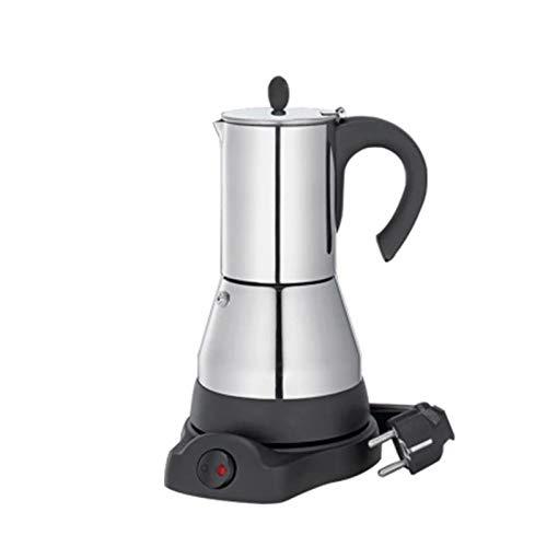 Nawxs Máquina para el hogar Cafetería Espresso Coffee Pot Capítulo Europeo de Acero Inoxidable Portátil 304 Moka eléctrico Pot (Size : 6 Cups)