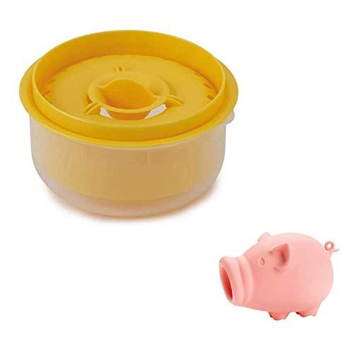 Ncheli Separador de Yemas Claras+Cerdo rosa Separador de yema,de huevo de cocina de Huevos Gadget de Cocina Herramienta para Hornear