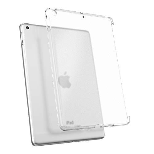 TiMOVO Funda Compatible con iPad 9.7 2018/2017, Prima Material difícil PC Claro Transparente Cubierta Compatible con iPad 9.7 Inch iPad 5th/6th Gen Flexible Trasera de Goma Esmerilada, Claro