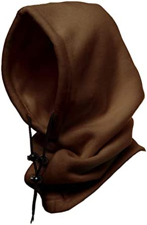 Winterproof 4 in 1 Full Face Hood Adults Fleece Balaclava Ski Mask Hoodie Brown product image