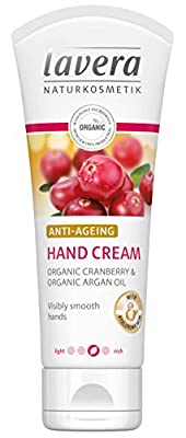 lavera Hand Cream Anti Ageing ∙ With Hyaluronic Acid ∙ Visibly Smooth Hands ∙ Vegan Organic Skin Care Natural & Innovative Cosmetics 75ml from Lavera
