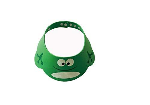 Baby Shampoo Cap, Kids Cartoon Shampoo Shower Cap, Wash Hair Shield Soft Security Shower Product Bath Supplies # 20, Green
