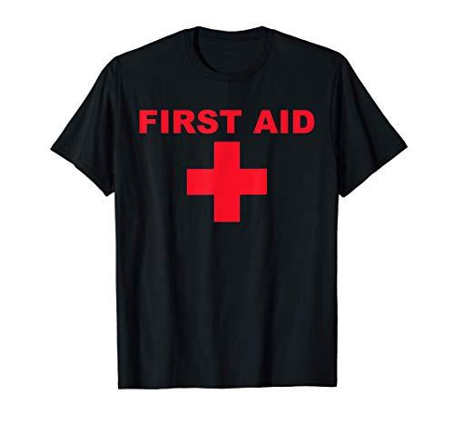 Erste Hilfe rot Kreuz Lifeguard Staff Uniform Damen Herren T-Shirt