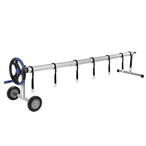 Ruixi Rollo de cubierta solar para piscina, kit de accesorios robusto, rollo solar, bobina para piscina subterránea, carrete de pesca