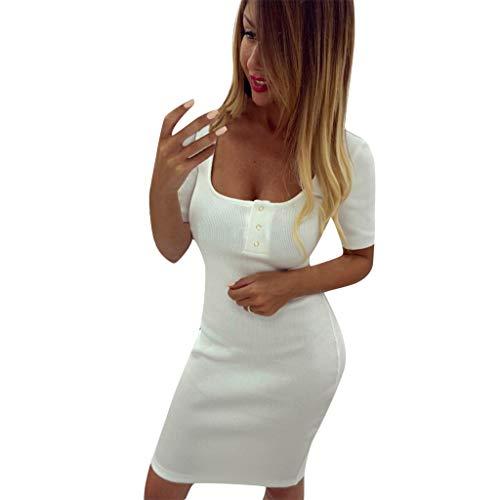 JXQ-N Damen Kleider, Damen Ausschnitt Quadratischer Kragen Einfarbig Weste Kleid Bodycon-Kleid Casual Sexy Ballkleid Mini Wickelkleid