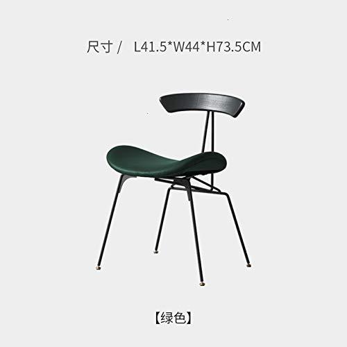 LKAIBIN Nórdicos de Estilo Industrial sillas de Hierro Retro sillas de diseño Ant sillón hacia atrás la Silla de Madera (Color : A3)