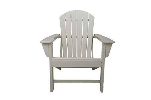 Resin Wood Adirondack Chair (White)