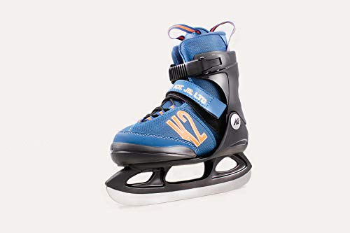 K2 Skate Jungen Merlin Ice Schlittschuhe, Blau, L/US 4-8/EU 35-40