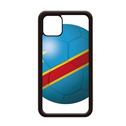 Congo nationale vlag voetbal voor Apple iPhone 11 Pro Max Cover Apple mobiele telefoonhoesje Shell, for iPhone11 Pro Max