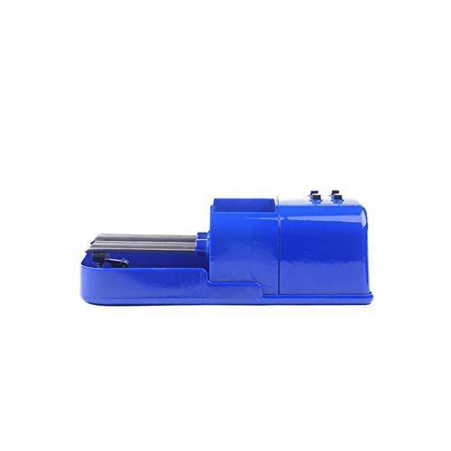 WAWAYU Maquina de Liar Cigarrillos, Haga Doble Fila Boquilla automática de Cigarrillos Fabricante, Cigarrillos Pusher, Mini Electric Extractor de Cigarrillos (Color : Blue)
