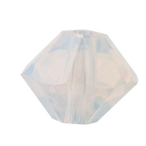 Swarovski ELEMENTS Crystal #5328 3mm Bicone Beads White Opal (25 Beads)