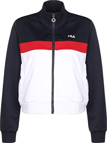 FILA Sweatjacke Damen Samah Track Jacket 687611 G06 Black Iris-True Red-Bright White, Größe:XS