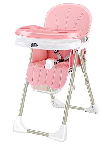 Silla Alta Multifuncional para Bebés Silla De Alimentación para Bebés Ajustable Silla Plegable Y Portátil con Altura Ajustable Pink