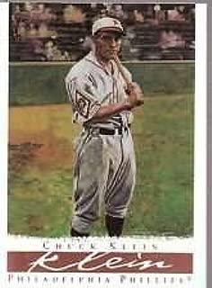 2003 Topps Gallery Hall of Fame Chuck Klein Baseball Card #34