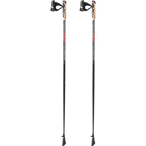 LEKI Nordic-Walking Stöcke Walker Platinium, Black, 130 cm
