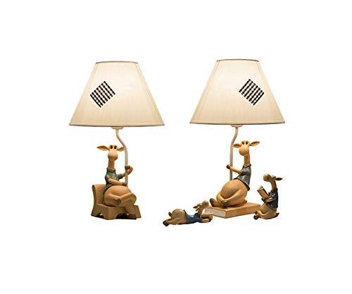 XIAONINGMENGDIAN Lámpara de mesita de Noche, Estilo mediterráneo, Regulable, el Amor materno Crece aparatos (Style : Alice Ange Family Table Lamp)